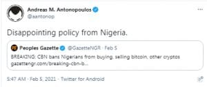 Central Bank of Nigeria Denies It Has Placed New Restrictions on Cryptocurrencies — Uses Debunked Claims to Justify New Directive