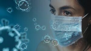 coronavirus-lady with mask
